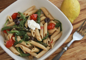 Roasted-Asparagus-and-Tomato-Penne-Salad-with-Goat-Cheese