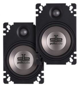 4-Polk Audio 4.6-Inch Plate Style Speakers Best Car Speakers