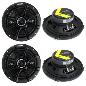 6- Kicker 41DSC654 2-Way Coaxial Speakers Best Car Speakers