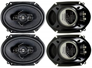8- Pioneer 4-Way Stereo Speakers-TS Best Car Speakers
